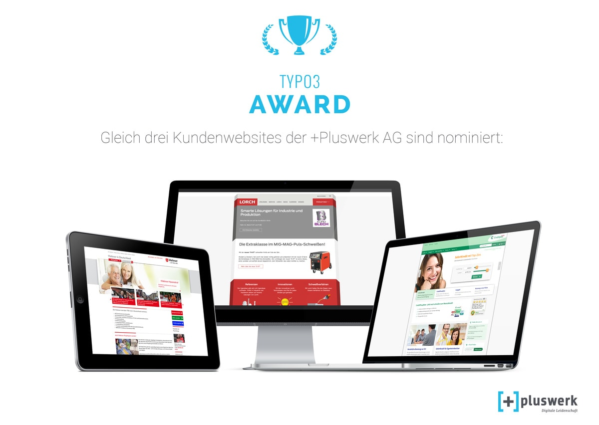 Pluswerk TYPO3 Award Nominierung